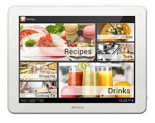 Archos ChefPad,Tablet Android,Tablet Untuk memasak,Dual-Core,Jelly Bean