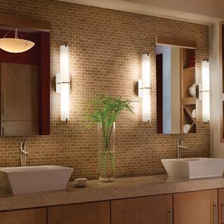 chrome bathroom lighting