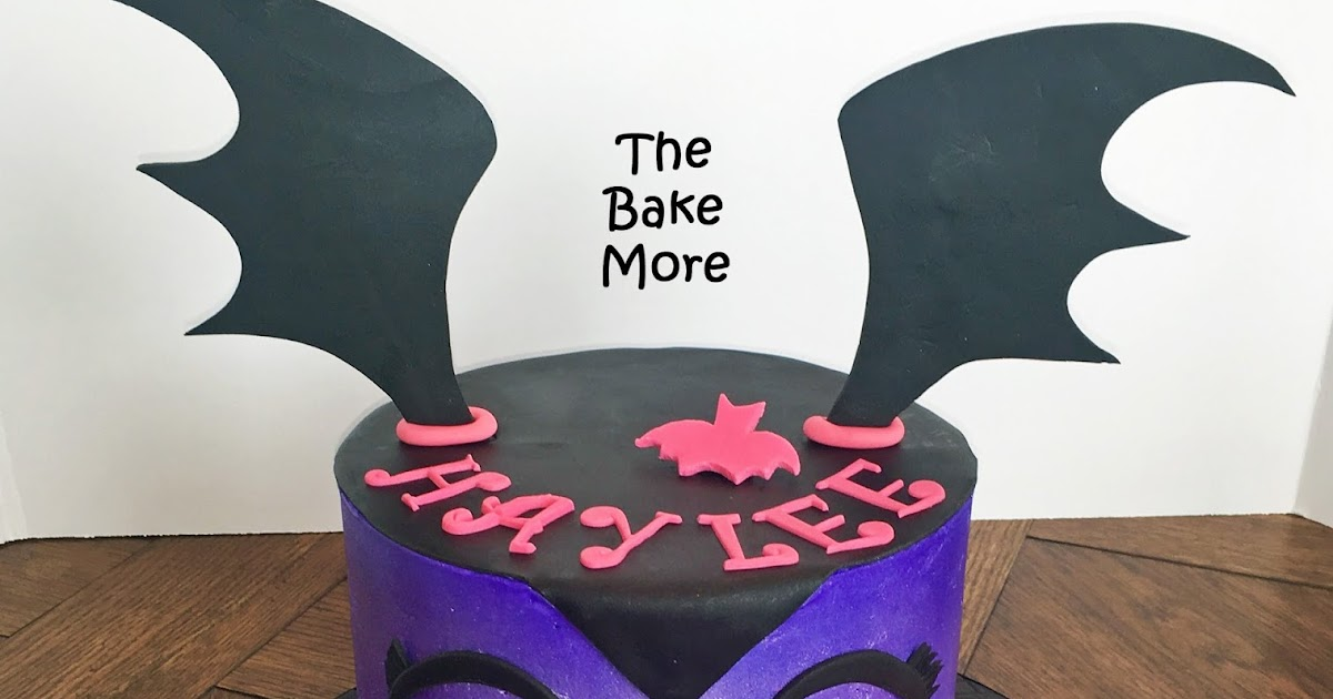 The Bake More Easy Vampirina Cake With Spiderweb Drum