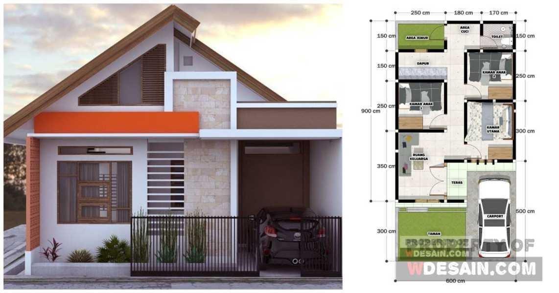 gambar rumah 6x9 3 kamar tidur