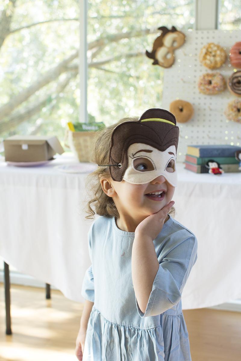 Belle felt mask