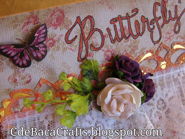 Butterfly Cards with Flowers by CdeBaca Crafts Blogger.