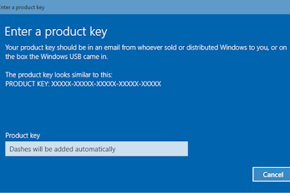 Cara Aktivasi Windows 10 Dengan Digital Key License