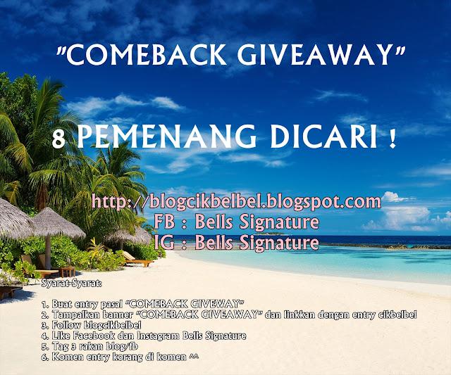 comeback giveaway cik belbel