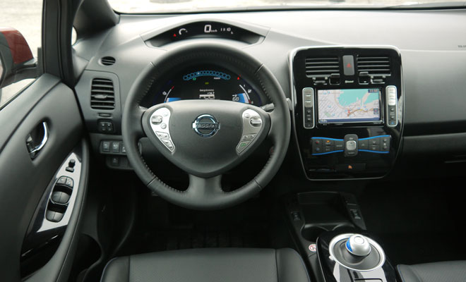 2013 Nissan Leaf driver's view
