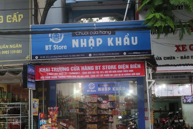 BT Store Điện Biên - Trưng bày hàng hóa