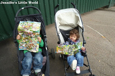 Toddler and Baby at Alton Towers