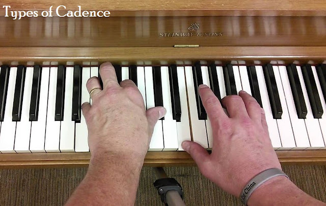 There are four main types of cadence; which are Authentic Cadence, Half Cadence, Deceptive Cadence, and Plagal Cadence. These four division are based on their harmonic progression.
