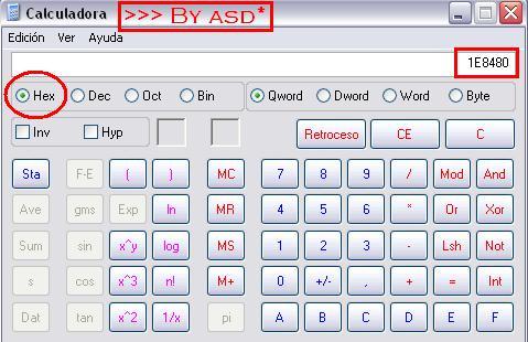 Convirtiendo número en hexadecimal