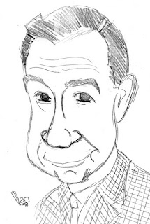 Walter Matthau Caricature Sketch by Ian Davy Brown