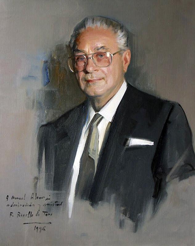 Retrato de Manuel Alvar López, Félix Revello de Toro, Revello de Toro, Pintores Malagueños, Retratos de Revello de Toro, Pintor español, Pintores de Málaga