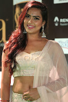 Prajna Actress in backless Cream Choli and transparent saree at IIFA Utsavam Awards 2017 0043.JPG