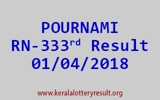 POURNAMI Lottery RN 333 Results 01-04-2018