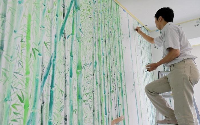 No. 10 Park Hotel Tokyo Artist Room 'Bamboo' designed by Yoshitaka Nishikawa