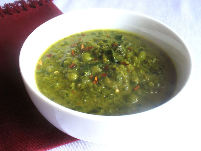 Green Pea Collard Greens Soup