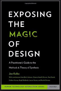 capa do livro Exposing the Magic of Design do autor Jon Kolko. Imagem é um link para compra
