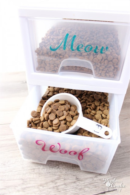 Dog and Cat Pet Food Organizer:: OrganizingMadeFun.com