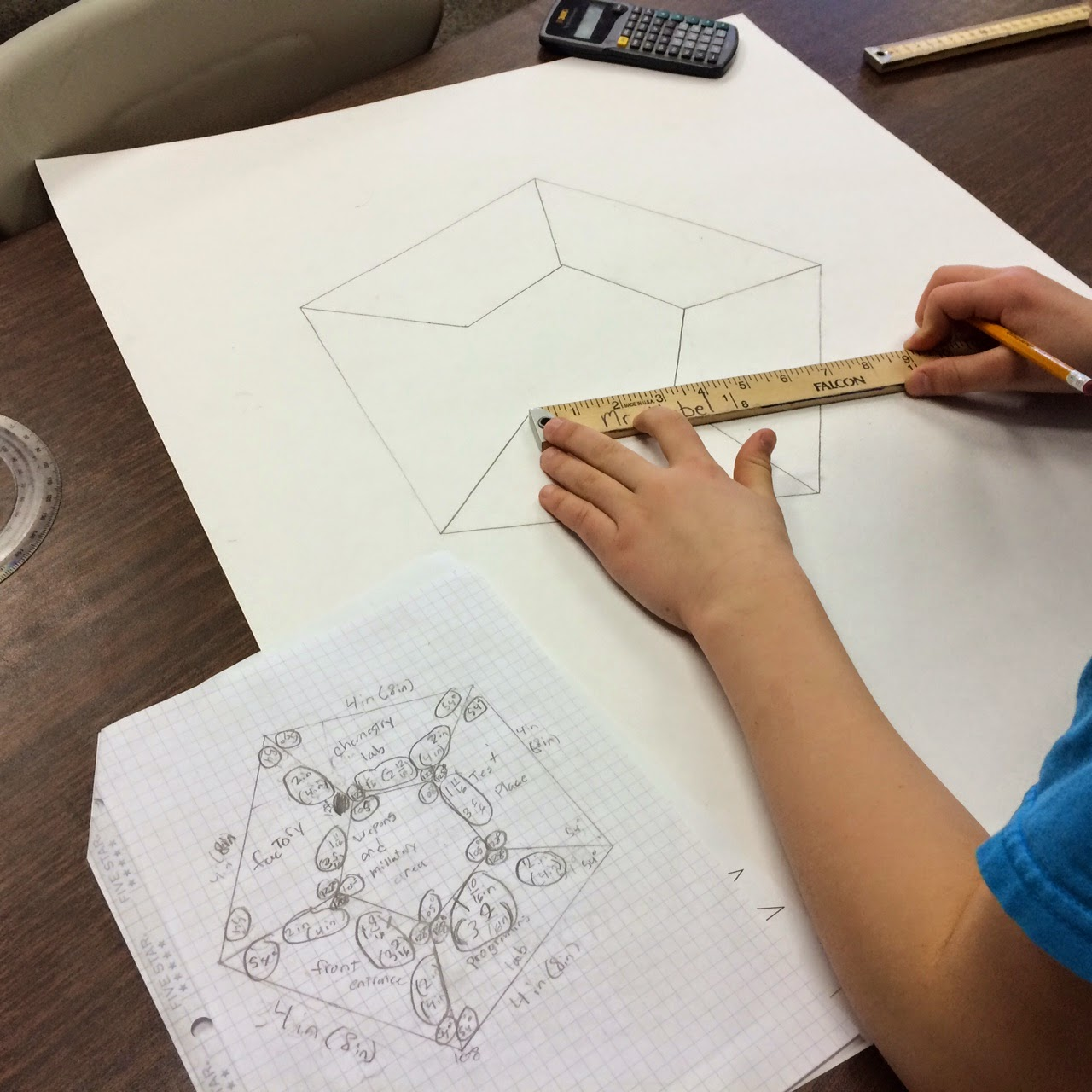 Middle School Math Man Blueprint Project For Upper