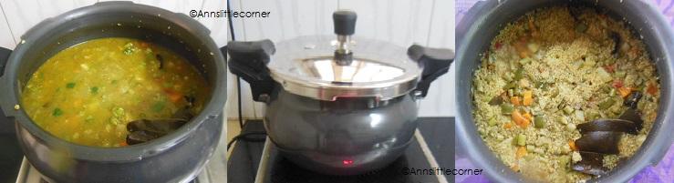 How to make Broken Wheat Biryani - Step 7