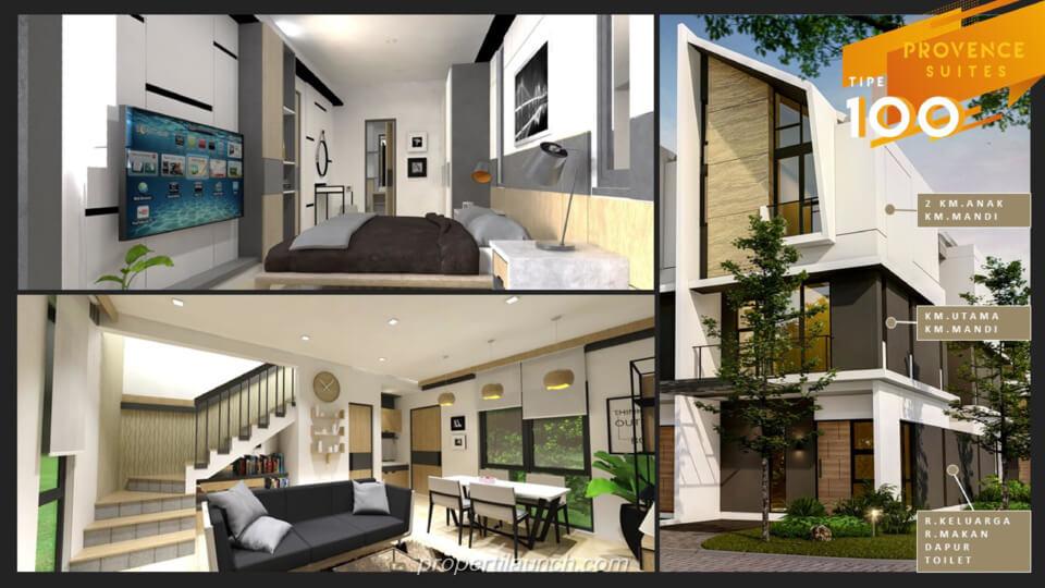 Interior Rumah Provence Suites BSD Tipe 100