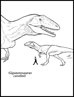 Giganotosaurus Carolinii Coloring Pages With Name