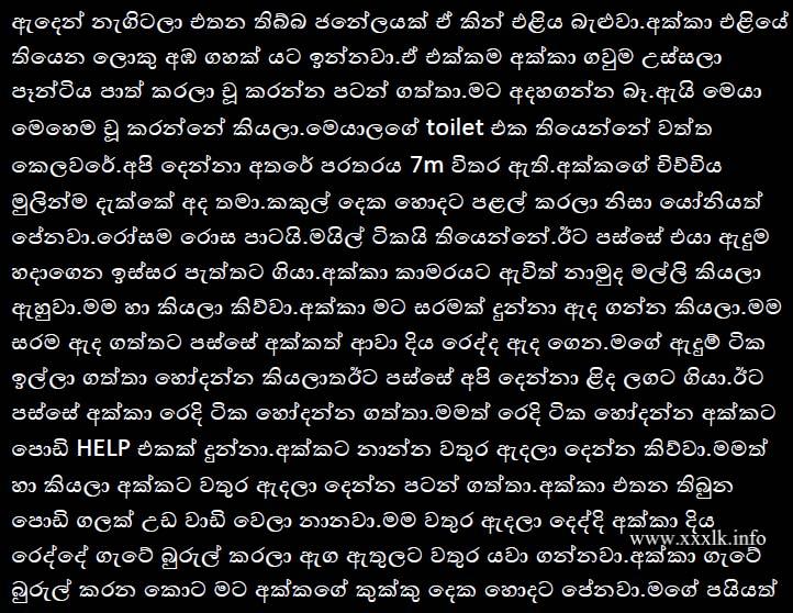 Sinhala sex stories akka