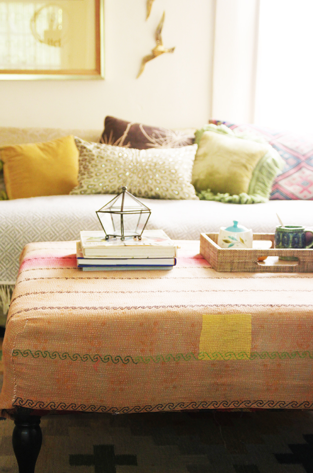 DIY Reversible Ottoman Cover | The JungalowThe Jungalow