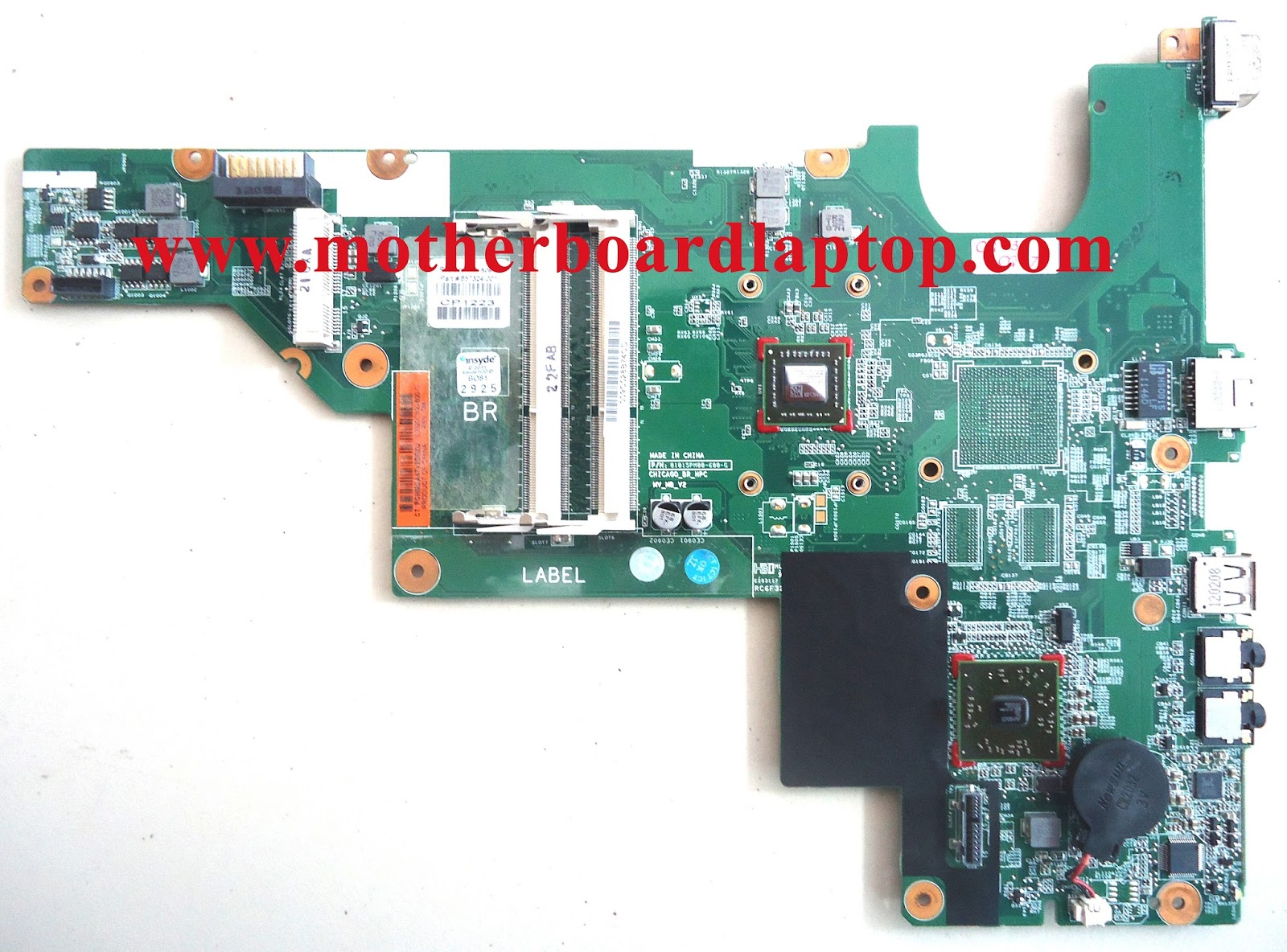 Motherboard Laptop Bekas HP Compaq CQ43 AMD