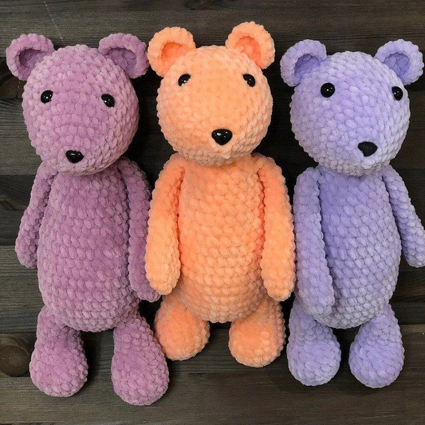Amigurumi bear crochet plush pattern