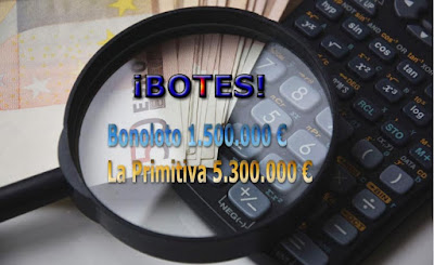 Botes de loteria bonoloto y primitiva del jueves 2 de febrero de 2017