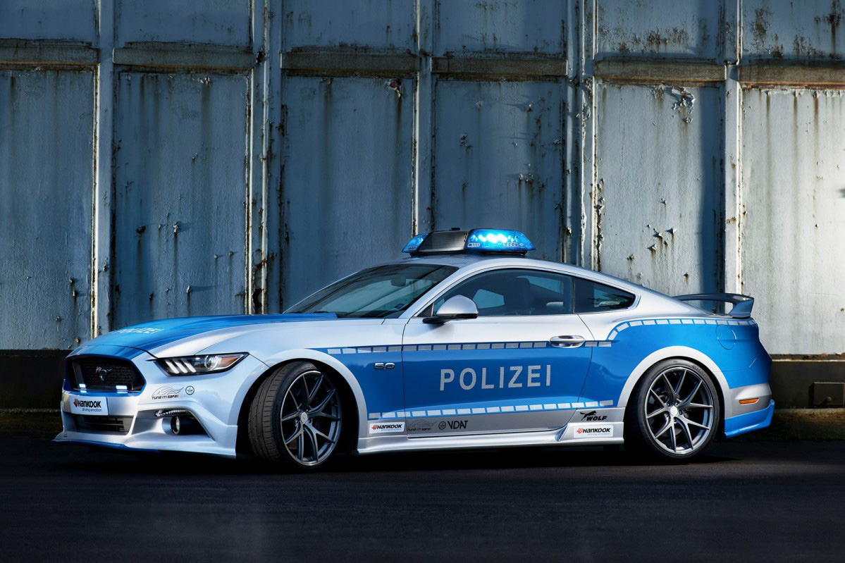 Ford Mustang Transformed Into A German Police Car At ESSEN | Carscoops