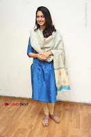 Actress Rakul Preet Singh Stills in Blue Salwar Kameez at Rarandi Veduka Chudam Press Meet  0081.JPG