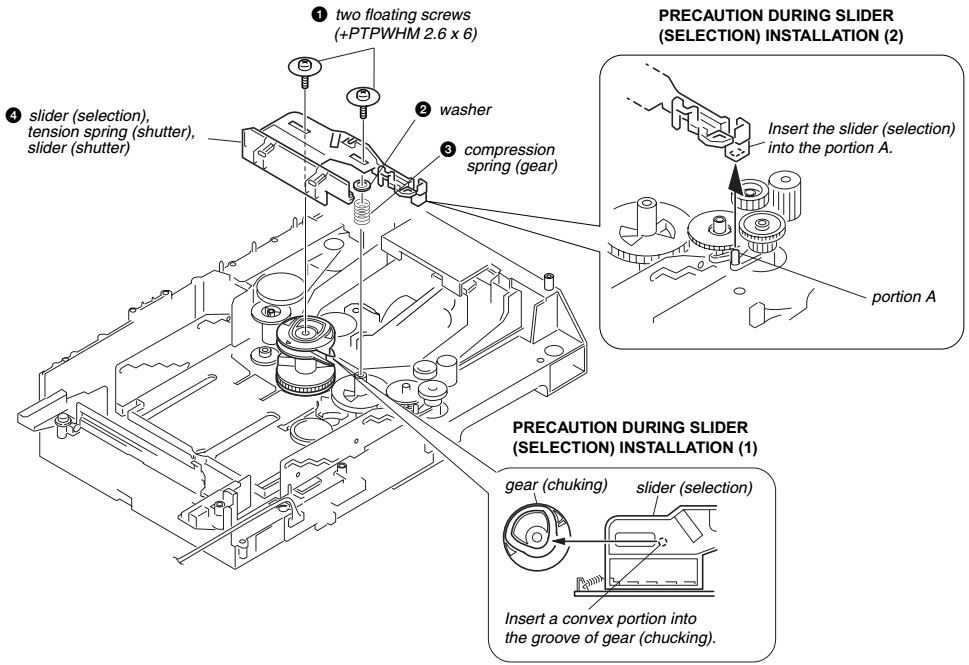 Electrotechnician: Disc changer Disassemble procedure