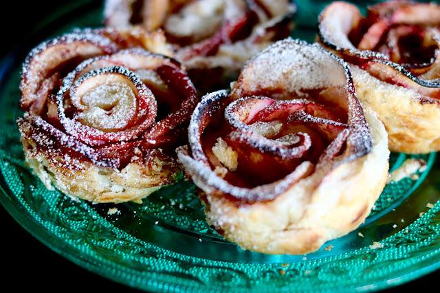 🌹 różyczki z ciasta francuskiego