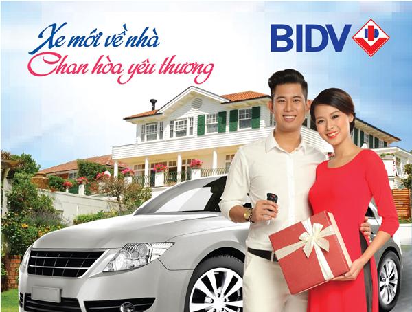 Vay mua xe ô tô cũ ngân hàng BIDV
