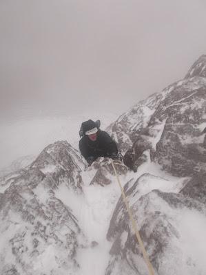 North buttress, winter climbing