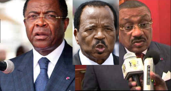 Ministers Basile Atangana Kouna And Edgar Alain Mebe Ngo'o Caught Red Handed By Biya In A Foul Game OF CDE Ownwership