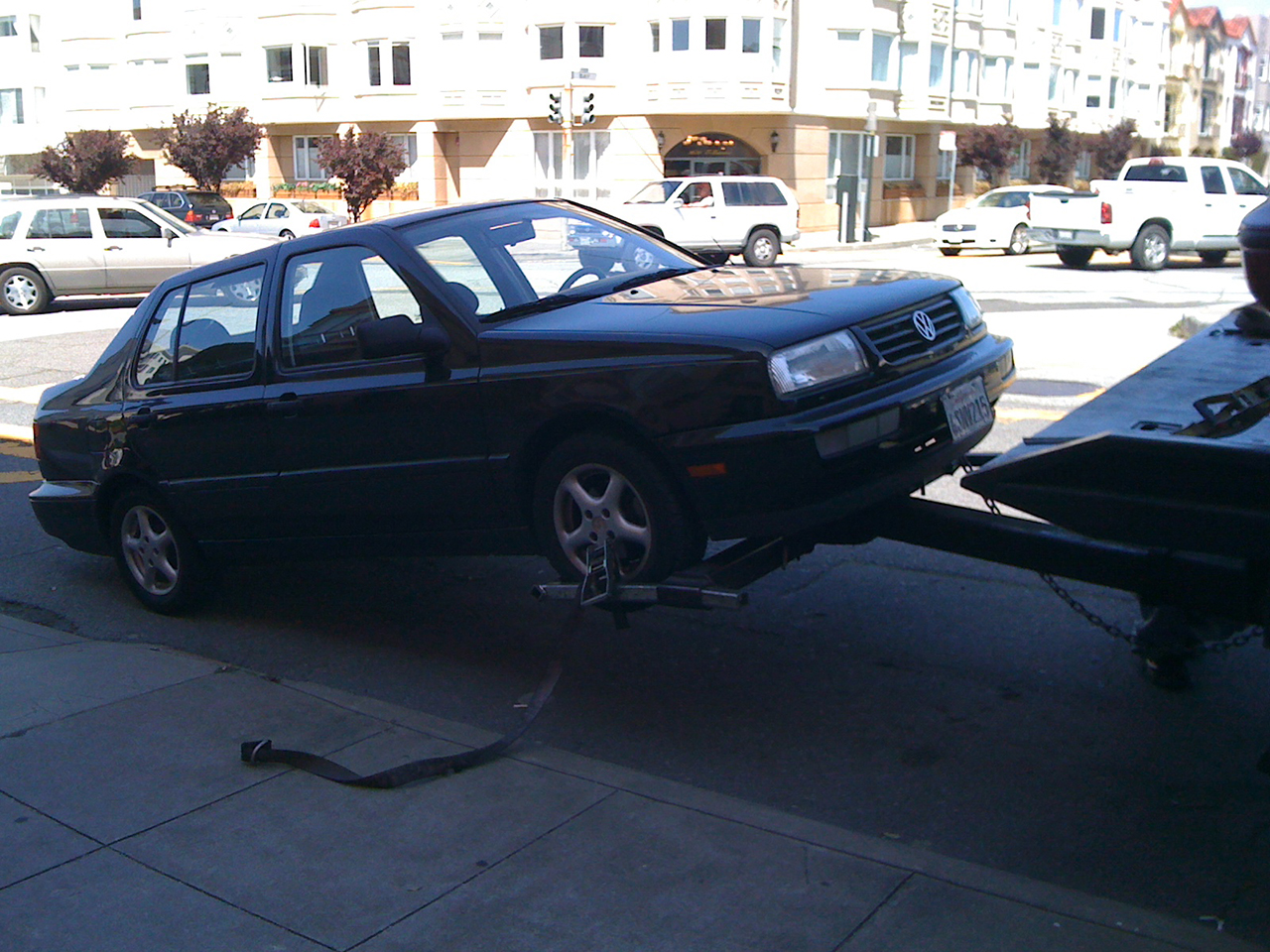 The trusty jetta donated to KQED.