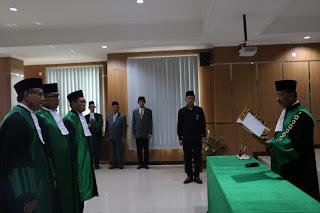 Ketua PTA Palembang Melantik 3 Hakim Tinggi Dan 7 Ketua Pengadilan Agama