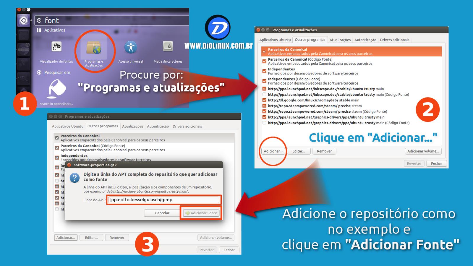 Como instalar a última versão do GIMP no Ubuntu - Diolinux