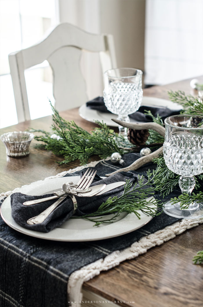 Elegant Rustic Christmas Table