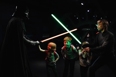Madame Tussauds London including Star Wars,  A Review - Darth Vader lightsaber battle with Luke Skywalker