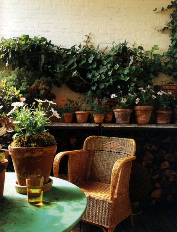 A place to sit and unwind after working in the garden-design addict mom