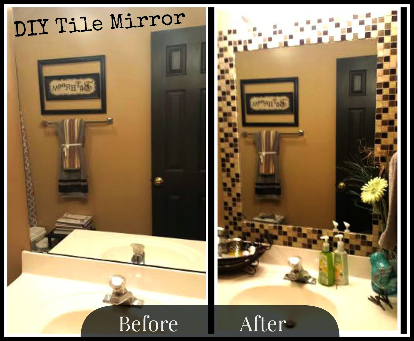Tonya Locklear: DIY Tile Mirror