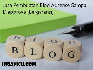 jasa pembuatan blog adsense sampai diapprove
