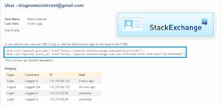 StackExchange Kode HTML