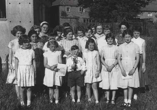 Photograph of The Congregational Junior Choir Brookmans Park 1956
