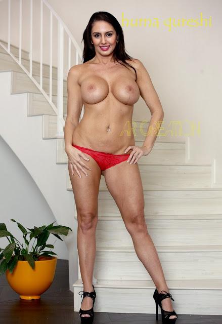 Huma Qureshi posing topless without bra sexy leg big boobs photo