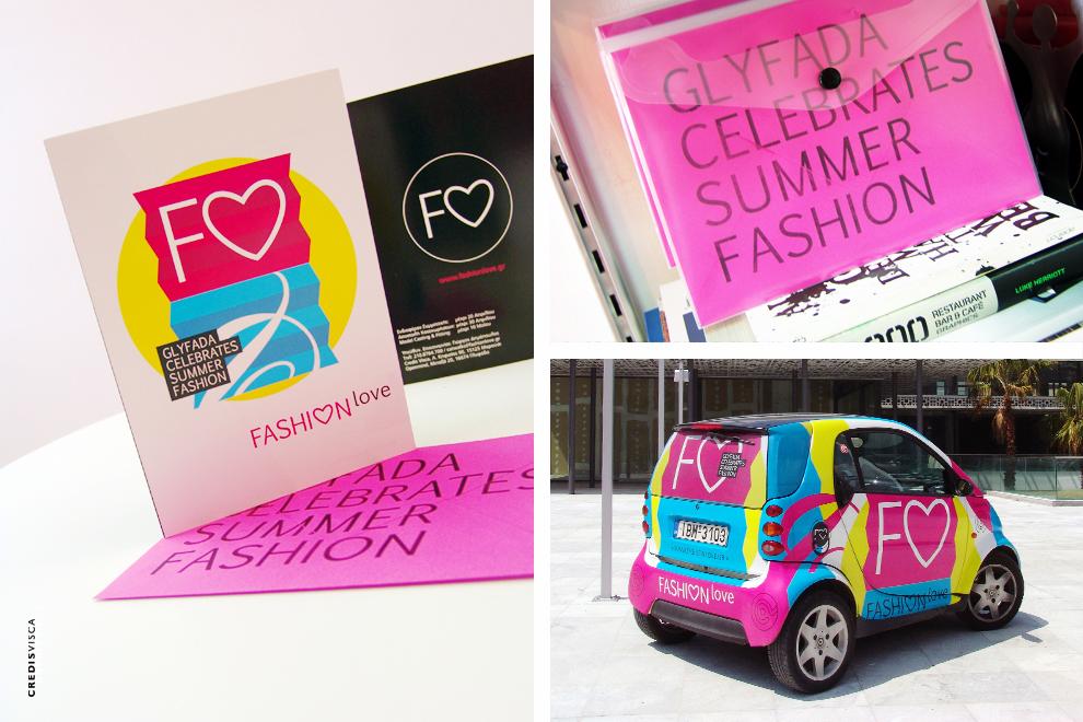 Λογότυπο, Branding, Γραφικά, Έντυπα, Direct Mail και Car Wrapping για το Fashion Love στη Γλυφάδα