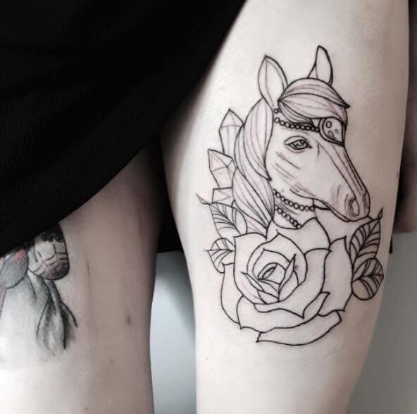 62 beautiful horse tattoo designs and ideas 2018 tattoosboygirl howldb. Black Bedroom Furniture Sets. Home Design Ideas